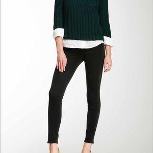 J Brand Mid Rise Cord Pants Skinny Leg Black 28